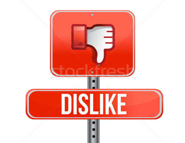 Dislike road sign. Thumb down Sign illustration design Stock photo © alexmillos