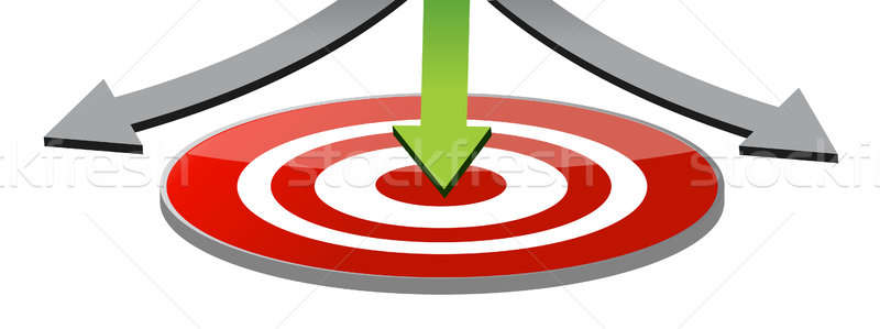 Stock photo: Attain the target illustration design over a white background