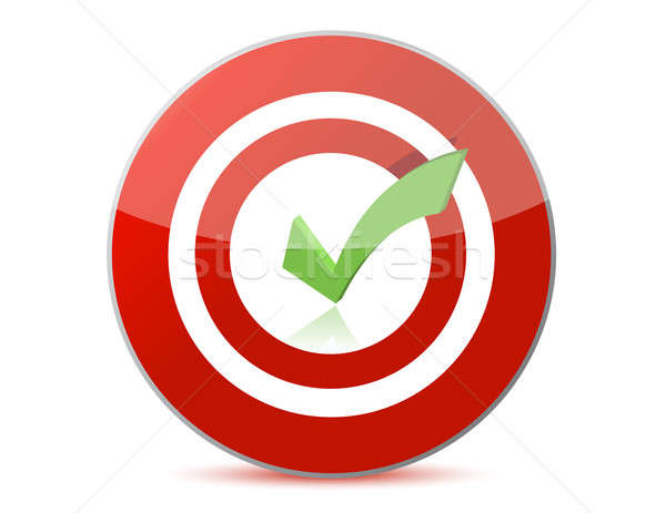 target with checkmark illustration design over white Stock photo © alexmillos