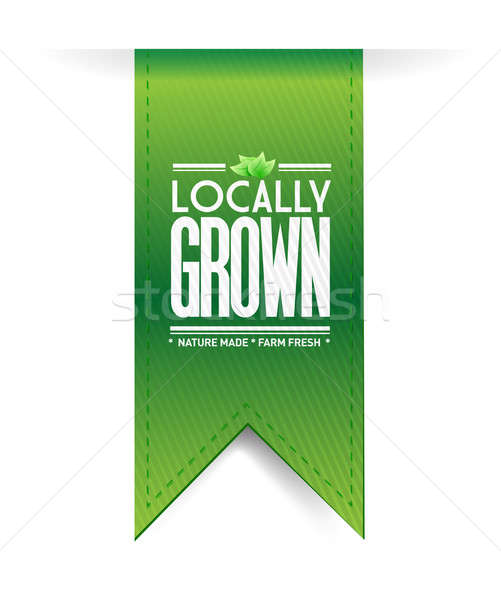 locally grown banner concept illustration design graph over a wh Stock photo © alexmillos