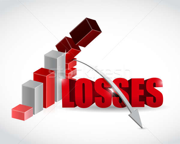 losses graph illustration design over a white background Stock photo © alexmillos