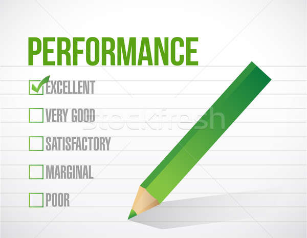 excellent performance review illustration design graphic over wh Stock photo © alexmillos