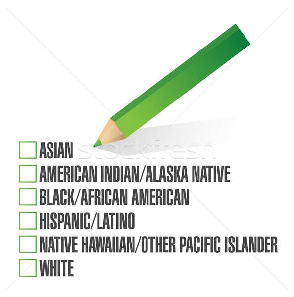 race selection. pick. illustration design over a white backgroun Stock photo © alexmillos