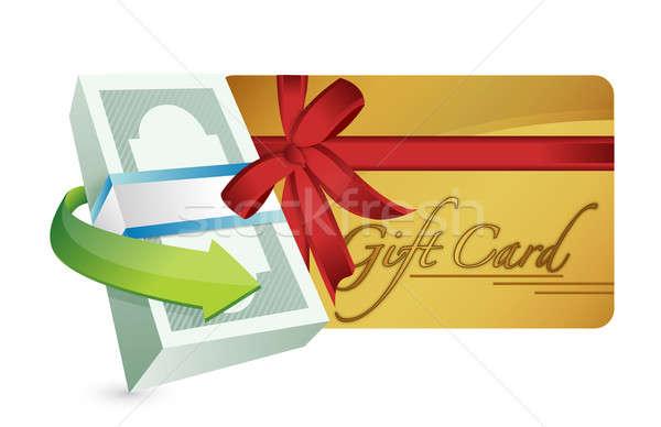 Dinero tarjeta de regalo ilustración diseno blanco papel Foto stock © alexmillos