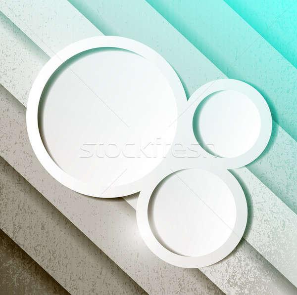 Groene papier lijnen cirkels klaar Stockfoto © alexmillos