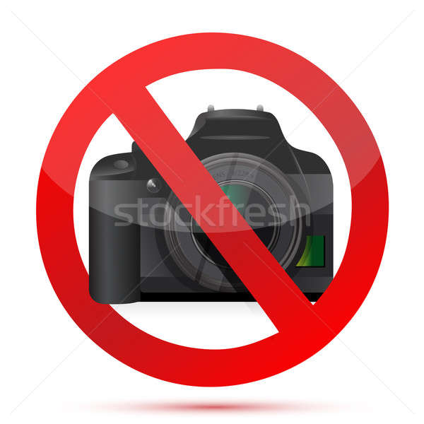 camera do not use sign illustration design over white Stock photo © alexmillos
