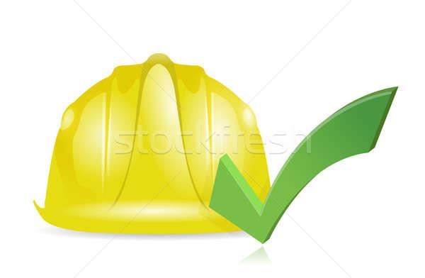 Approve construction illustration design  Stock photo © alexmillos