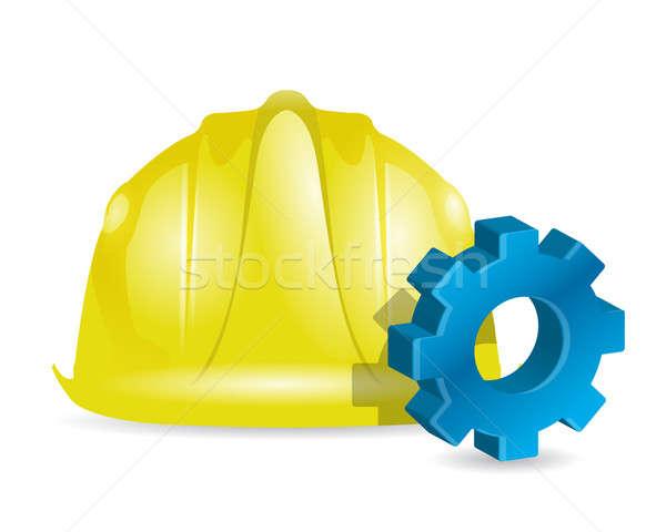 building industrial concept illustration design over white Stock photo © alexmillos