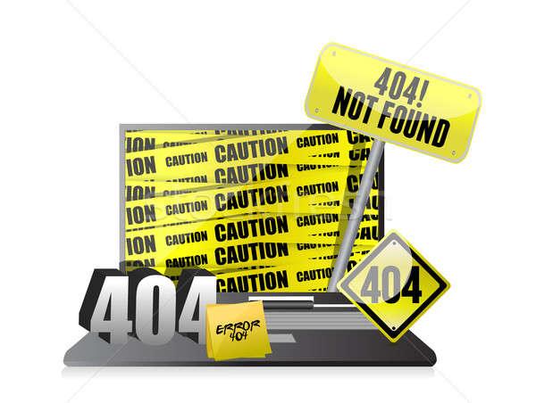 404 hata göstermek dizüstü bilgisayar bilgisayar soyut Stok fotoğraf © alexmillos