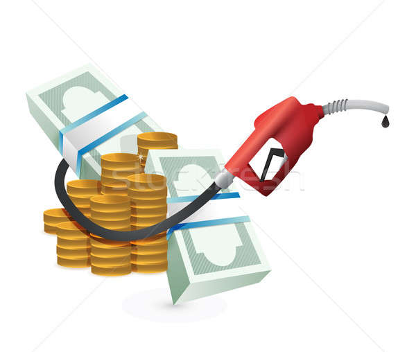 Oil prices concept with a gas pump nozzle Stock photo © alexmillos