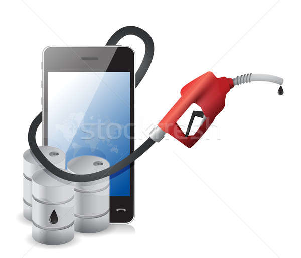 Phone with a gas pump nozzle Stock photo © alexmillos