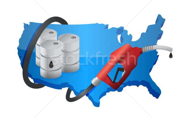 Foto stock: Mapa · bocal · negócio · azul · indústria