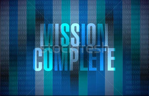 Küldetés teljes bináris felirat illusztráció terv Stock fotó © alexmillos