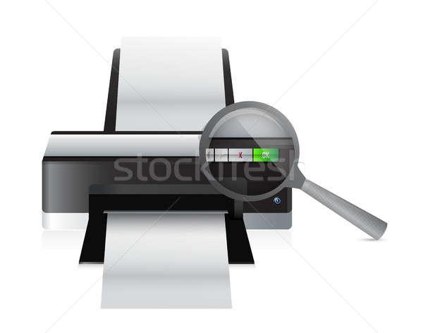 printer magnify illustration design Stock photo © alexmillos