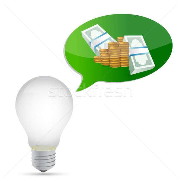 денежный Идея иллюстрация дизайна графических белый Сток-фото © alexmillos