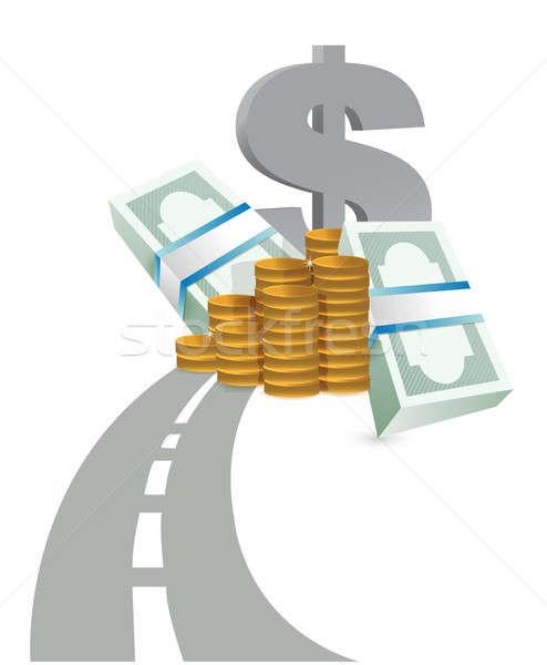 Stock photo: road to profits concept illustration