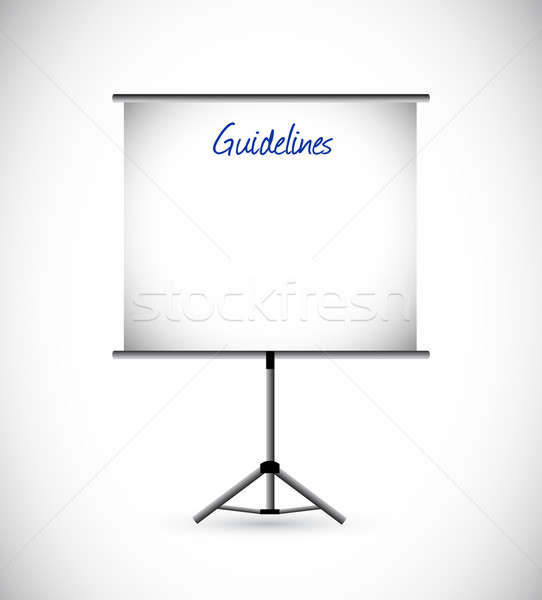 guidelines presentation illustration design Stock photo © alexmillos