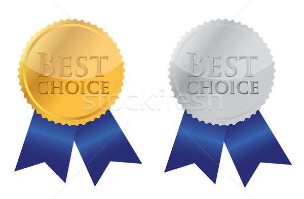 şerit ödül en İyi seçim örnek altın reklam Stok fotoğraf © alexmillos