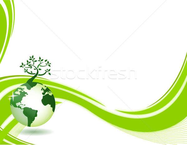 Foto stock: Verde · natureza · eco · ilustração · abstrato · cópia · espaço