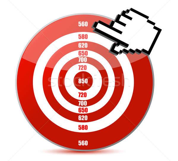 低い クレジットカード スコア 実例 デザイン 赤 ストックフォト © alexmillos