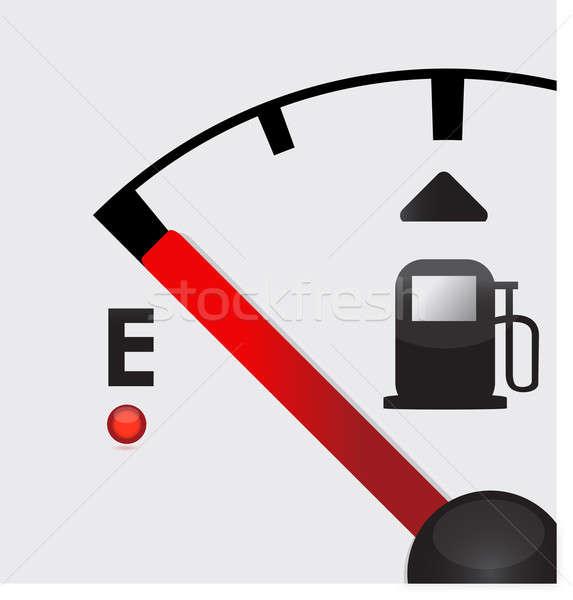 closeup empty Gas Tank Illustration Stock photo © alexmillos