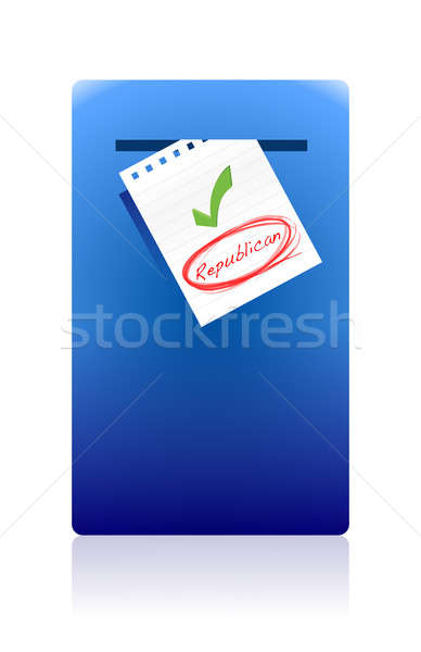 Skrzynka pocztowa republikański głosowania ilustracja projektu działalności Zdjęcia stock © alexmillos