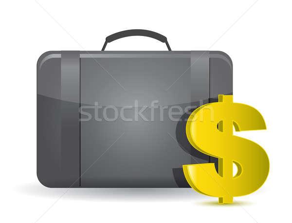 Money bag illustration concept over white Stock photo © alexmillos
