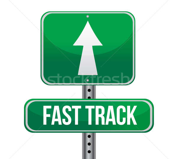 roadsign with a fast track concept illustration design Stock photo © alexmillos