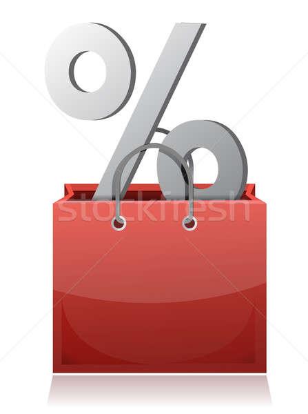 Sale concept shopping bag design over a white background Stock photo © alexmillos