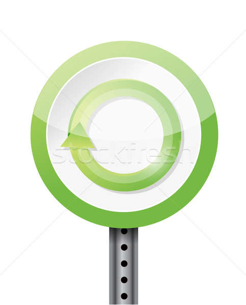 refresh or renew road sign illustration design over a white back Stock photo © alexmillos