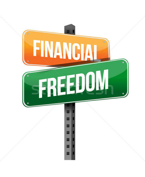 financial freedom illustration design over a white background Stock photo © alexmillos