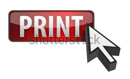 Botão cursor ilustração projeto branco negócio Foto stock © alexmillos
