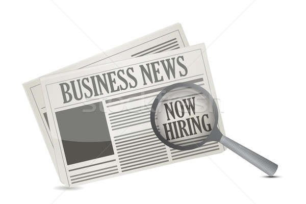 found a job opportunity on a Business Newspaper illustration des Stock photo © alexmillos