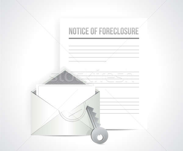 notice of foreclosure letter and envelope. illustration design o Stock photo © alexmillos
