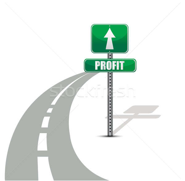 Stock photo: Profit road illustration design concept over white