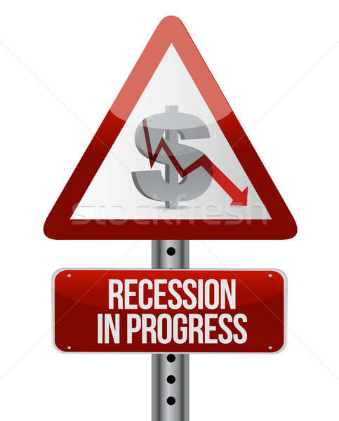 recession in progress illustration design over white Stock photo © alexmillos