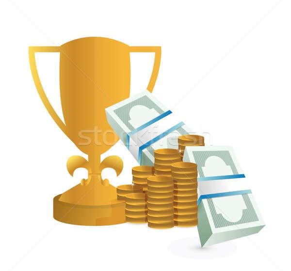 денежный награда иллюстрация дизайна деньги металл Сток-фото © alexmillos