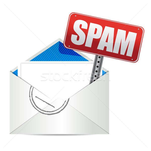 Photo stock: Spam · mail · courriel · signe · illustration · design