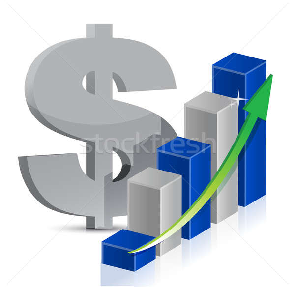 Dollaro valuta icona stile finanziare fase Foto d'archivio © alexmillos