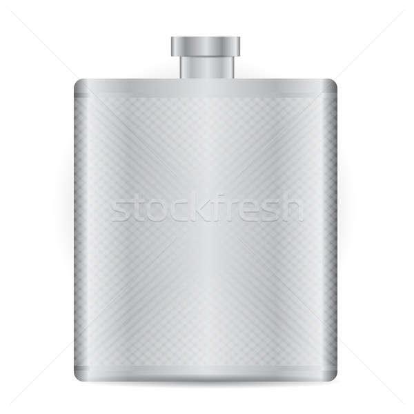 Stainless bottle flask illustration design   Stock photo © alexmillos
