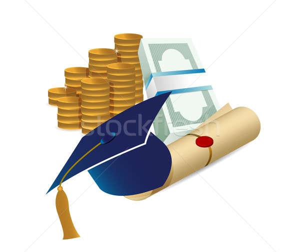 Profit érettségi illusztráció terv fehér papír Stock fotó © alexmillos