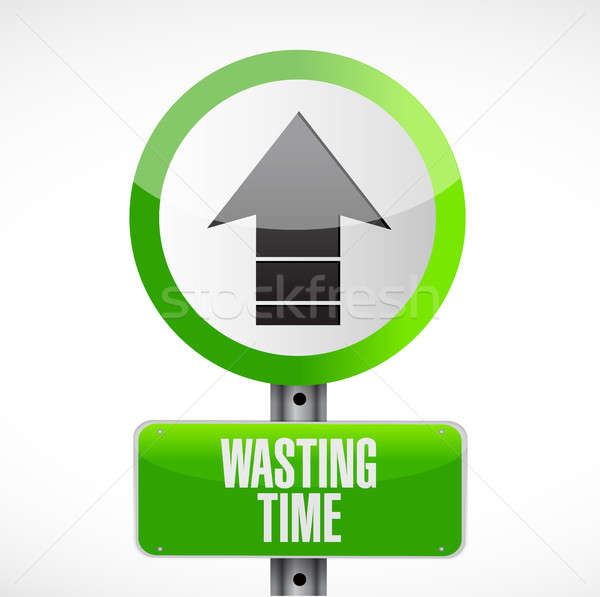 Wasting time road sign concept illustration Stock photo © alexmillos