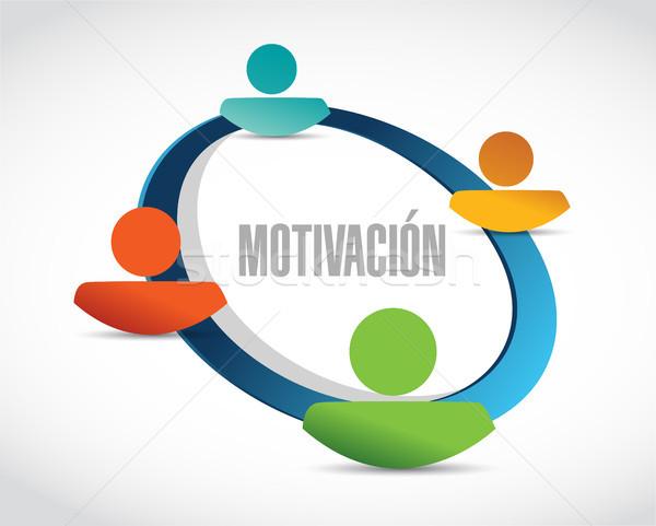 Motivación red signo espanol ilustración diseno Foto stock © alexmillos
