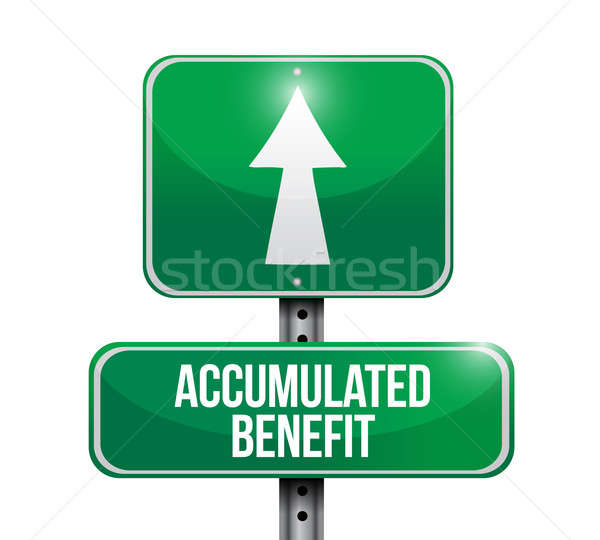 accumulated benefit road sign illustration Stock photo © alexmillos