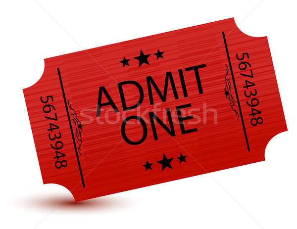Admit one movie ticket isolated on white Stock photo © alexmillos