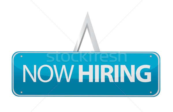 now hiring sign illustration design Stock photo © alexmillos