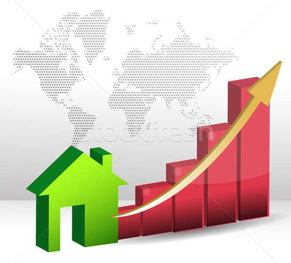 Mercato immobiliare business classifiche casa costruzione Foto d'archivio © alexmillos