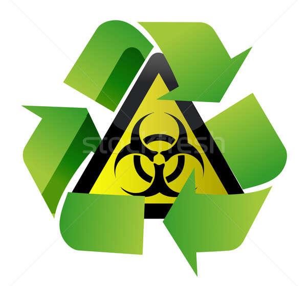 recycle biohazard sign illustration design over white background Stock photo © alexmillos