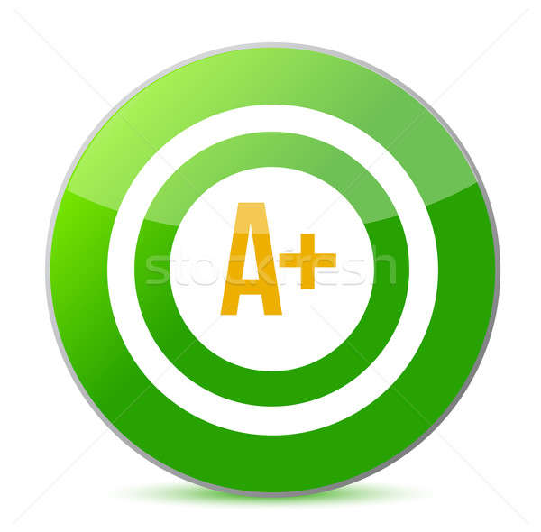 A plus rating target illustration design over a white background Stock photo © alexmillos