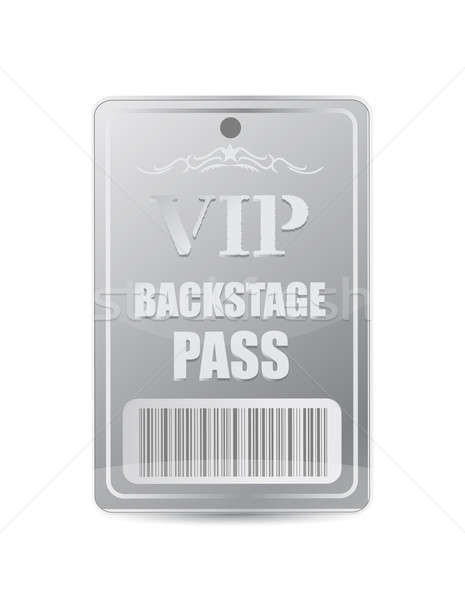 Backstage pass vip illustration design over white Stock photo © alexmillos